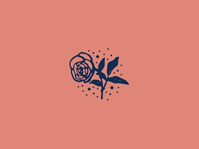 White Rose branding vector icon flower logo design illustration graphic design