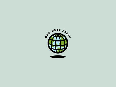 Our Only Earth mortenson badge design icons branding typography logo design design earth icon logo illustration graphic design vector