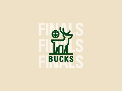 Milwaukee Bucks - NBA Finals illustration icon vector logo graphic design