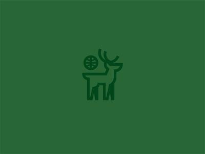 MKE Bucks bucks milwaukee buck deer logo design icon design logo illustration graphic design vector