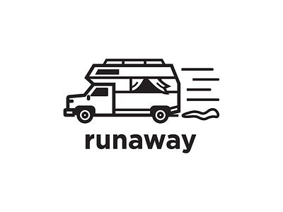Runaway illustration logo runaway vector logo design