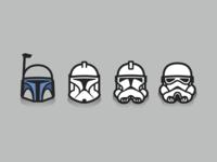 Star Wars Helmet Evolution