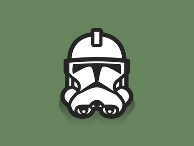 Clone Phase 2 helmet clone trooper starwars icon design illustration graphic design vector