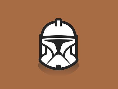 Clone Phase 1 illustration starwars clone trooper helmet design icon vector graphic design