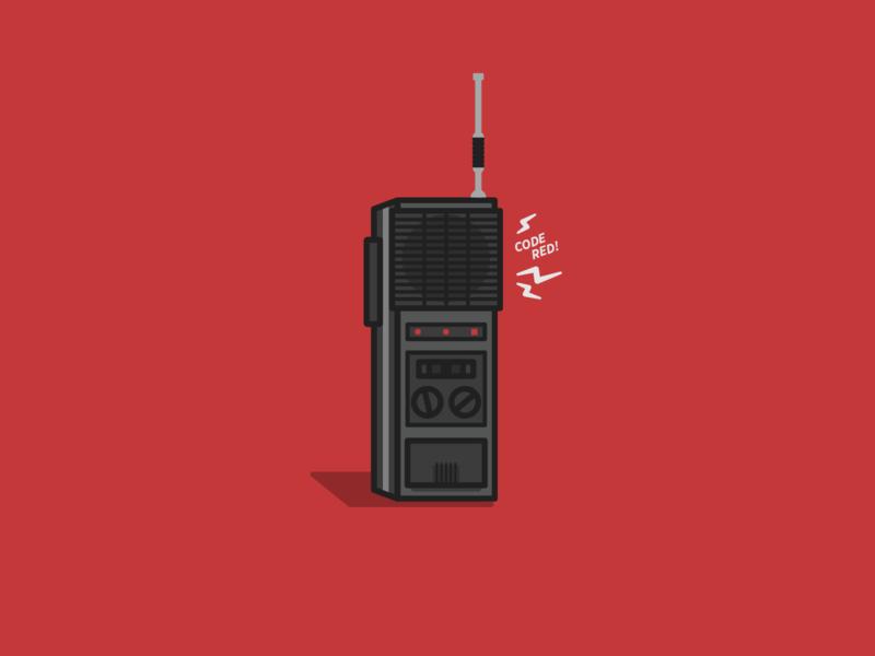 Code Red! walkie talkie eleven mike strangerthings stranger things icon design vector illustration graphic design