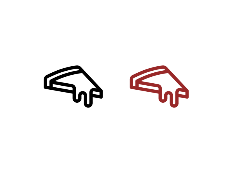 Blank Slate Pizza pizza logo slate blank pizza logo design icon design logo vector illustration graphic design
