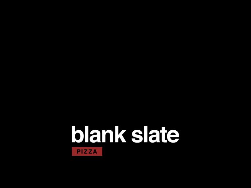 Blank Slate Pizza 2 slate blank pizza logo pizza typography logo design vector icon logo design illustration graphic design