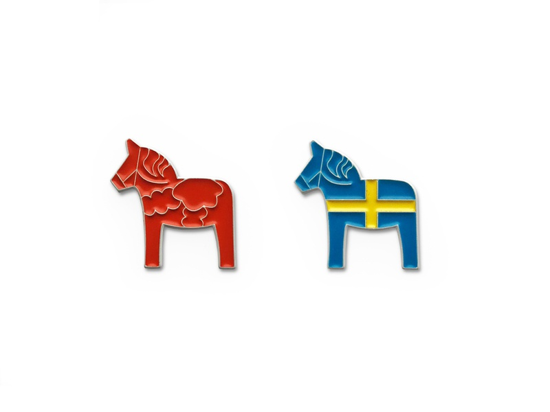 Swedish Horse Enamel Pins enamelpins sweden enamel pins dala horse swedish enamel enamel pin enamelpin vector icons design illustration graphic design