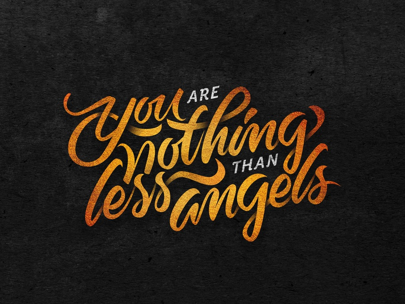 You Are Nothing Less than Angels illustrator artwork vector lyrics music la dispute art illustration hand lettering