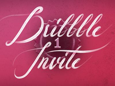 1 Dribbble Invite hand lettering illustration typography type lettering art community calligraphy lettering tickets invites dribbble ticket invite