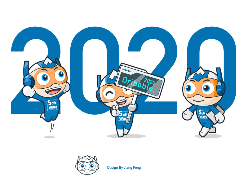 Dribbble2020 cute blue mascot software dribbble character illustration