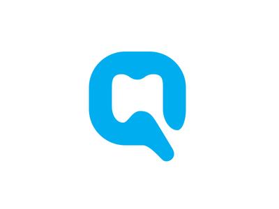 """Letter """"Q"""" / Dental / Logo Design symbol"""