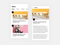 News Apps - Design Exploration