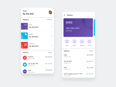Fintech Digital Wallets - Design Exploration
