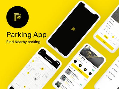 Parking App (Find Nearby Parking) adobexd ux design akashmishra uidesign parkingapp illustration ui ux uiux design