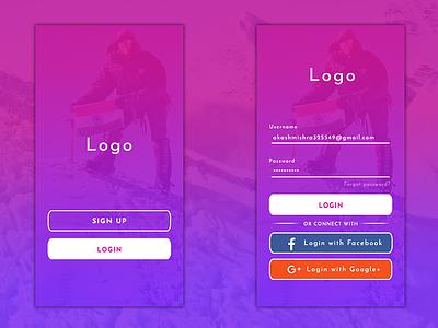 Login And Signup Page signup login illustration photoshop