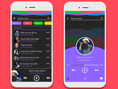 Music Player App UI uiux design app player music