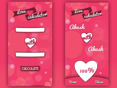 love calculator App UI lovecalculator uiux app design