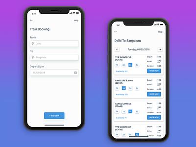 Train booking app app ux ui tickets booking