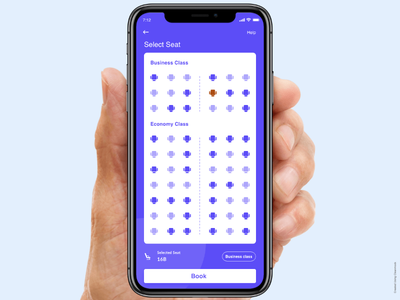 Flight Select Seat logo design androidapp branding ux ui uiux app