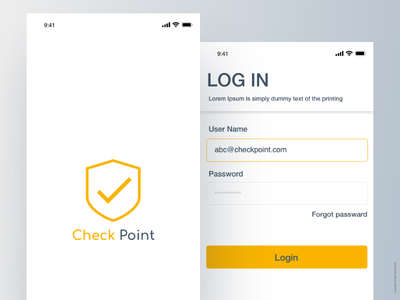 Check point Login page design app designer managment visitor checkpoint login logo design ux ui app branding androidapp