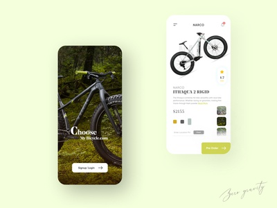Bicycle Store App UI Design app design ui online store ecommerce app bicycle shop