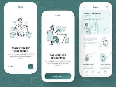 Digital Agency app ux ui Design app ux app ui digital agency app design app design