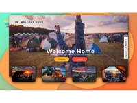Travelling Website Design Concept