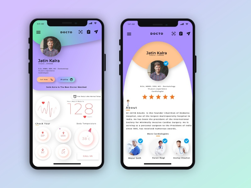 Health App Concept by Mayank Shah on Dribbble