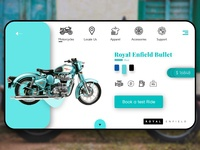 Royal Enfield Shop Page User Interface Design