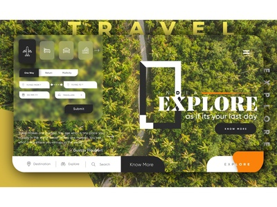 Travel - Ticket Booking and Hotel Booking Web Page UI Concept