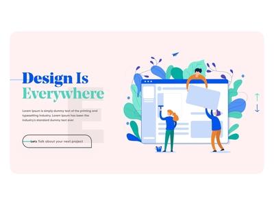 Design Agency Landing Page Web design