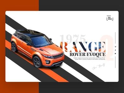 Range Rover Landing Page | Car Landing Page Web Design