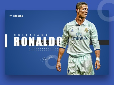 Soccer Player Ronaldo Web page design