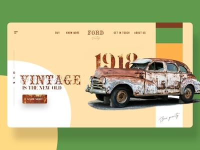 Vintage Cars Web Design Concept