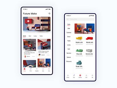 Future Furniture App-01 插图 图标 设计 应用 ux ui