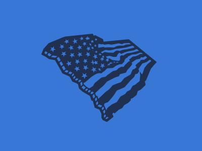 South Cackalacky - American Flag state flag american sc south carolina