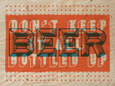 Beer Poster 2 beer poster plywood screenprint