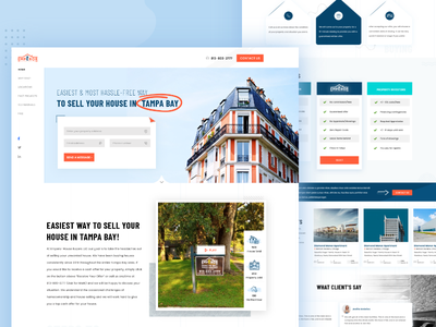 Property Landing Page landing page web home flat apartment sell home rent home residency real estate ux ui website