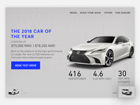 Car website slider
