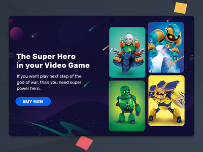 Web banner for Game Card