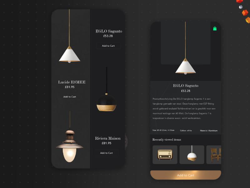 Lamp app furniture app iphone app android app e-commerce mobile app app lamp app