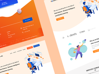 business and consulting landing page