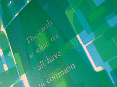 Earth Letterpress Poster graphicdesign metaltype typography woodtype design poster letterpress earth