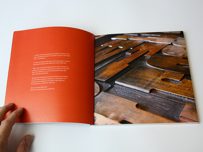 Hamilton Wood Type Specimen Booklet, inside spread graphicdesign booklet typography letterpress woodtype