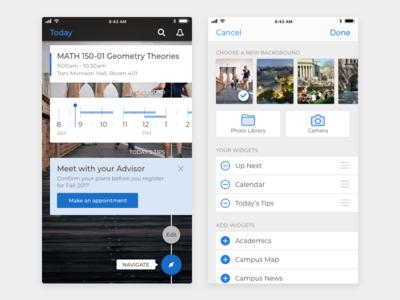 Student Mobile App Edit Screen visual design ux design ui design product design mobile design