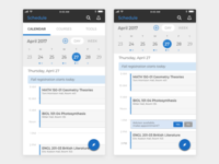 Student Mobile App Schedule
