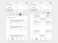 Student Mobile App Schedule v2