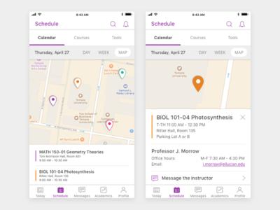 Student Mobile App Class Locator visual design ux design ui design product design mobile design