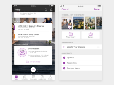 Student Mobile App Edit Screen v2 visual design ux design ui design product design mobile design